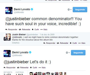 demi lovato, tweets, and justin bieber image