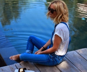 blonde, water, and fashion image