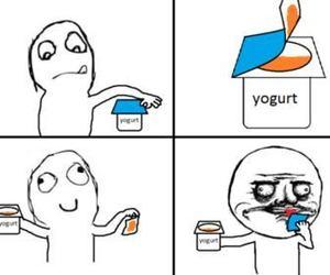funny and yogurt image