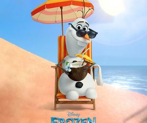 olaf, frozen, and summer image