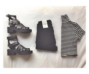 fashion, black, and sandals image