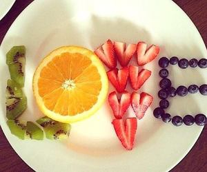 love, fruit, and strawberry image