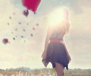 baloons and girl image