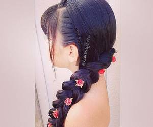 beautiful, woman, and hairstyle image