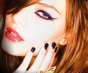 girl, make up, and nails image