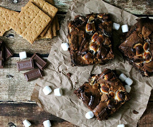 brownies, food, and smores image
