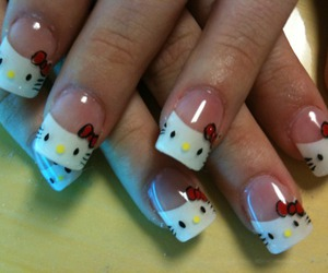 hello kitty and nails image