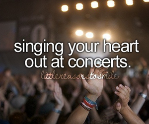 concert, singing, and heart image