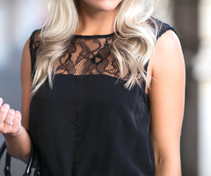 fashion, black, and blonde image