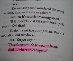 escape and text image