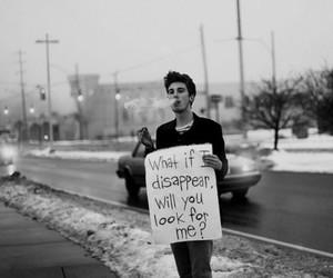 boy, smoke, and disappear image
