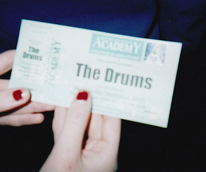 the drums, ticket, and indie image