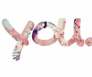 you, love, and flowers image