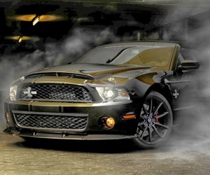 car, monster, and mustang image