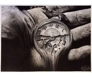 clock, melt, and old image