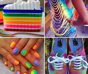 nails, rainbow, and cake image