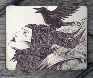 maleficent, art, and draw image