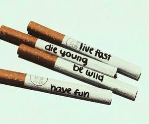 cigarettes, quote, and smoke image