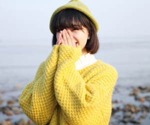 girl, smile, and yellow image