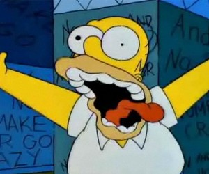 homer simpson, crazy, and homer image