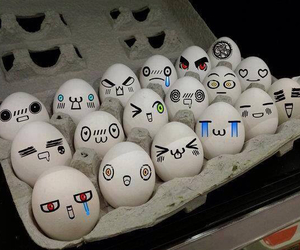 eggs and kawaii image
