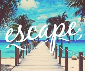escape, summer, and sun image