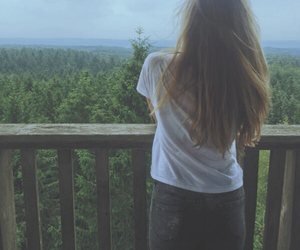 brown, forest, and girl image