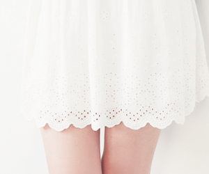 girl, skirt, and white image