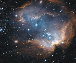blue, cosmic, and galactic image
