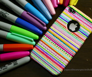 case, colorful, and iphone image