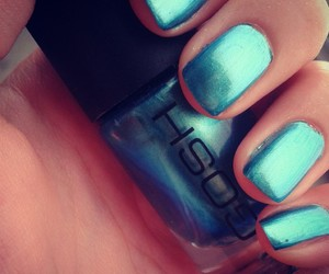 blue, nails, and ocean image