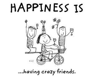friends, crazy, and happiness image