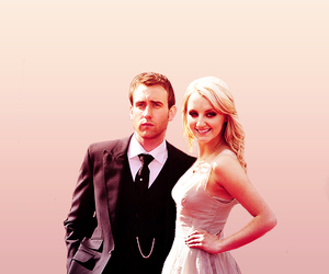 evanna lynch, harry potter, and Matthew Lewis image
