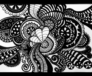 doodle, draw, and zentangle image