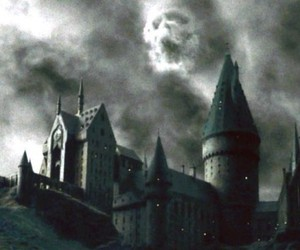 dark mark, harry potter, and hogwarts image