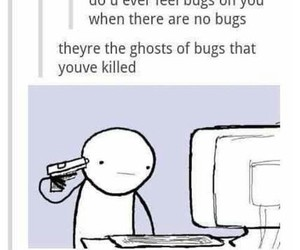 funny, bug, and ghost image