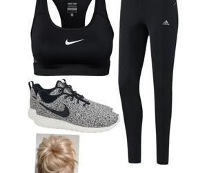 adidas, grey, and hair image