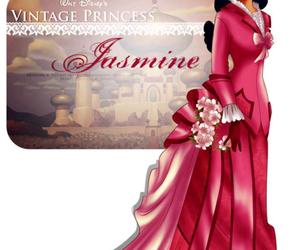 jasmine, disney, and vintage image