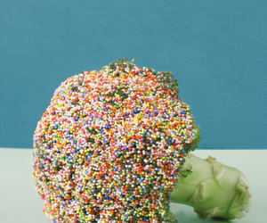 broccoli, candy, and sprinkles image