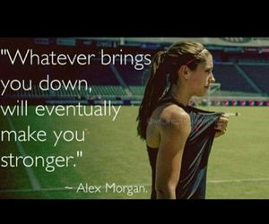 soccer, quote, and alex morgan image