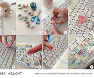 diy, keyboard, and colors image