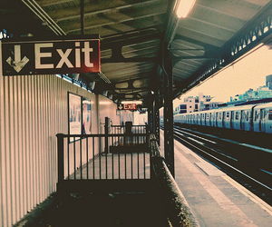 photography, train, and exit image