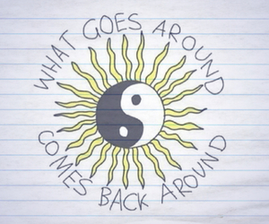 quote and yingyang image