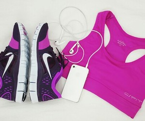 fit, pink, and purple image