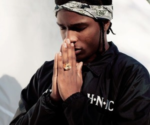 gold and asap rocky image