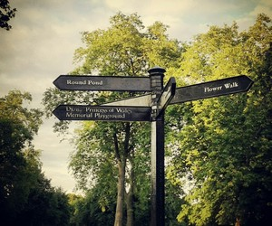 london, nature, and sign image