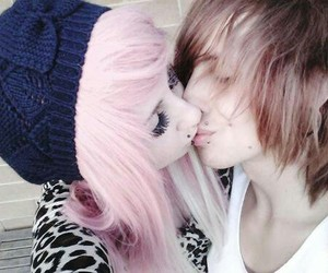 couple, alternative, and emo image