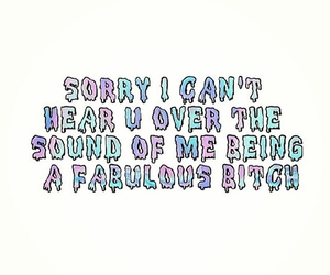 bitch, fabulous, and funny image