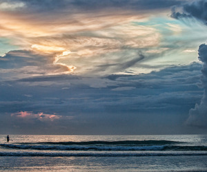 beach, florida, and clouds image