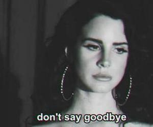 lana del rey, goodbye, and sad image